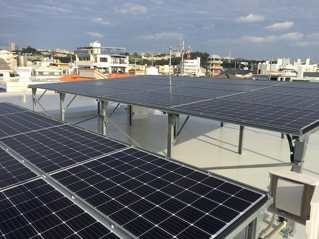 太陽光発電 沖縄市施工写真